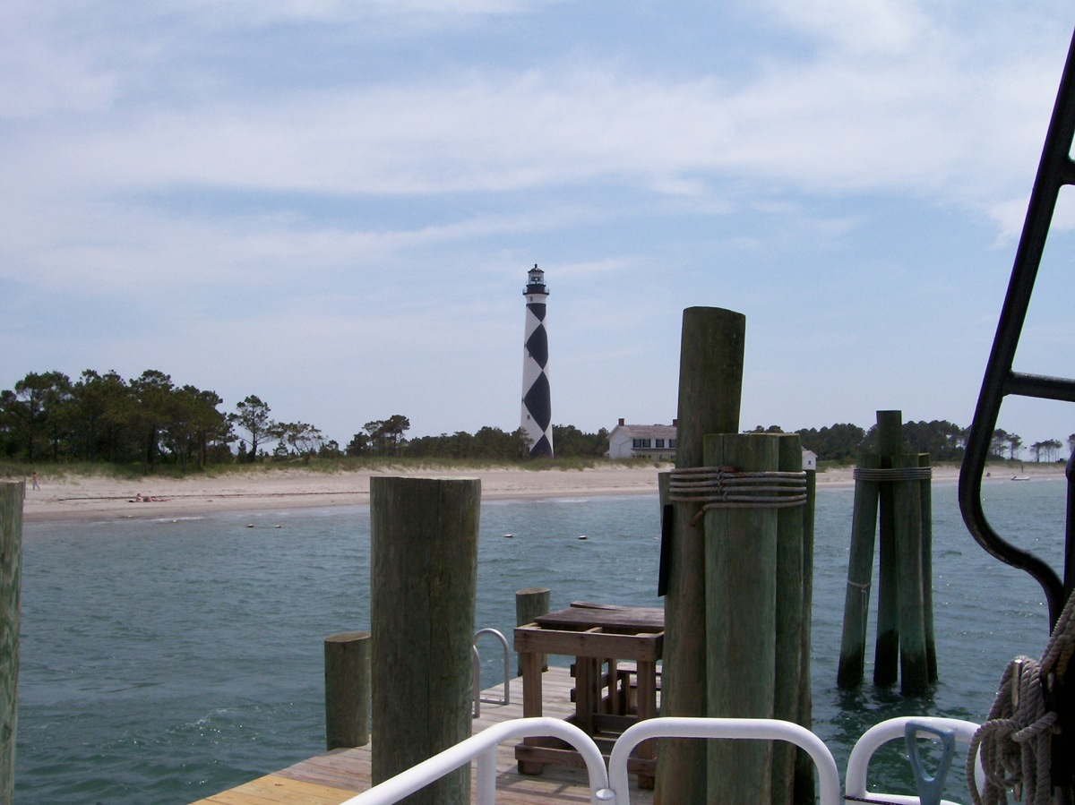 The Lighthouse at CapeLookout _ view from dock